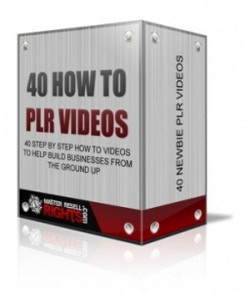 Product picture 40 How  To PLR Video Tutorial